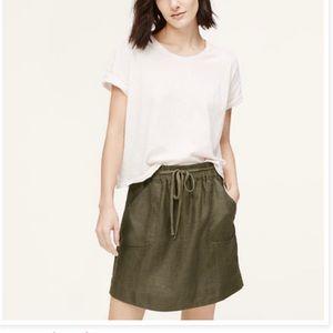 LOFT Linen Utility Skirt